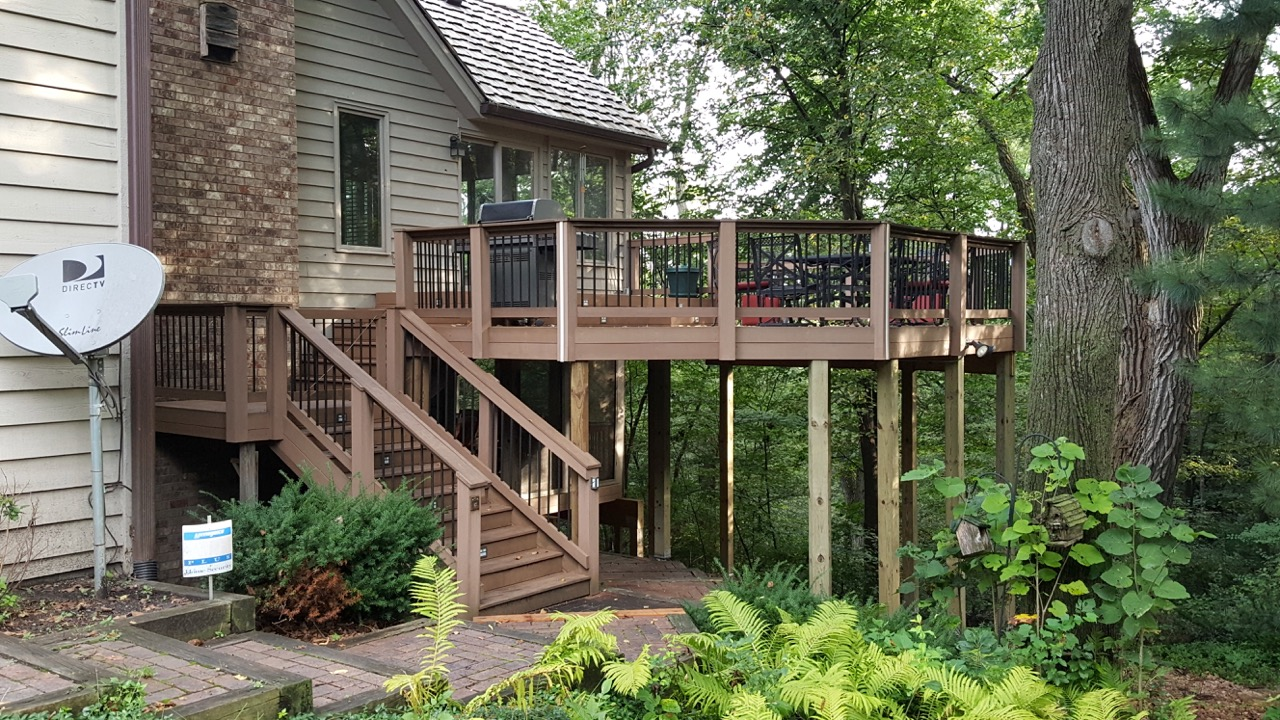 Rescued porches and deck