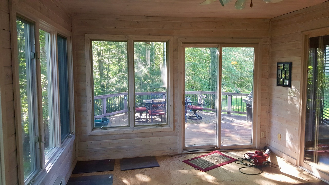View from four-season porch