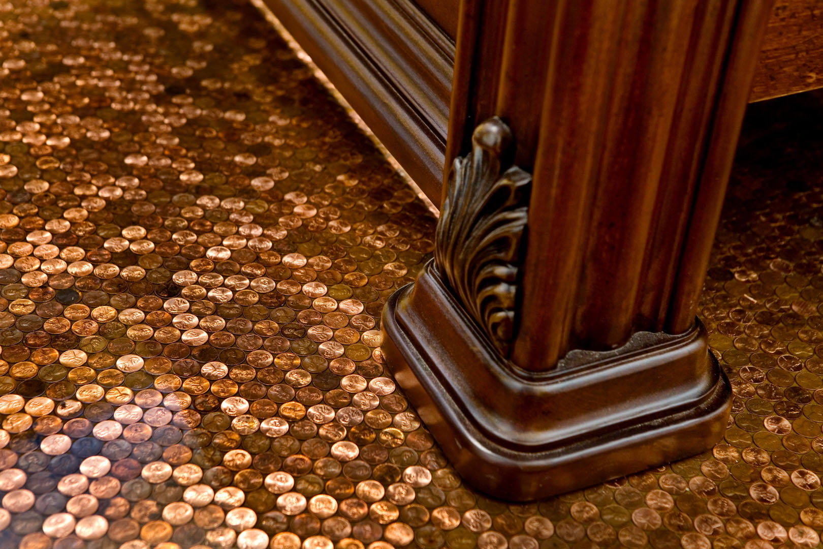 The legacy building company priceless penny floor for Floor of pennies