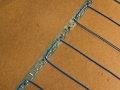 Radiant heat cable spaced 3-in.
