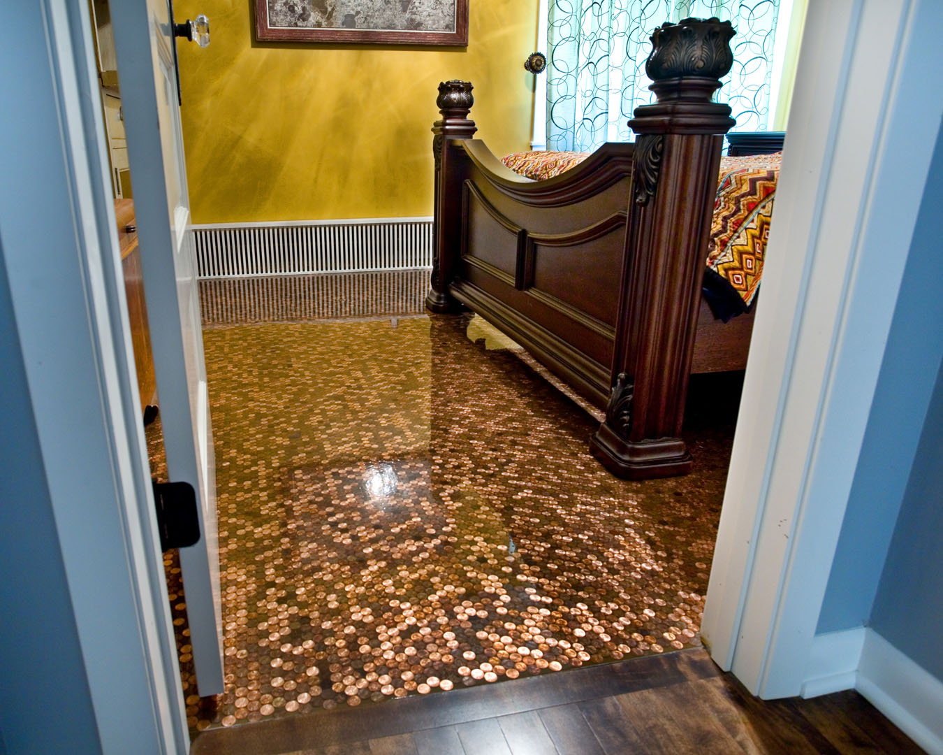 Penny Kitchen Floor The Legacy Building Company A Priceless Penny Floor